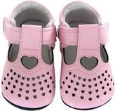 Jack & Lily Tiny Hearts T-Strap Flat - Pink, Size 30-36m