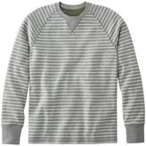 L.L. Bean L.L.Bean Washed Cotton Double-Knit Crewneck, Long-Sleeve, Stripe