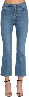 J Brand Lillie Flared Cotton Denim Jeans