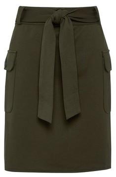 Dorothy Perkins Womens Khaki Utility Ponte Mini Skirt, Khaki
