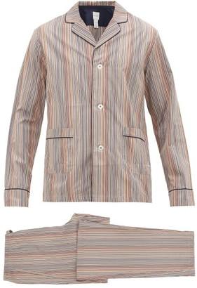 Paul Smith Signature-striped Cotton-poplin Pyjamas - Mens - Multi