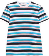 RE/DONE Striped Cotton-jersey T-shirt - Blue