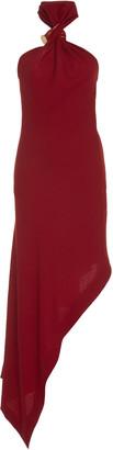 Monse Asymmetric Wool Halterneck Dress