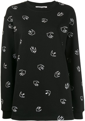 Mcq Swallow Bird Print Sweater