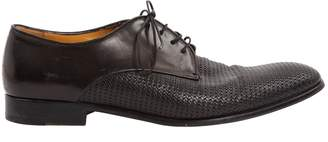 Giorgio Armani Black Leather Lace ups