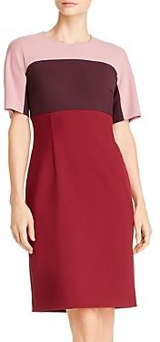 BOSS Donena Color Block Sheath Dress