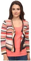 Nic+Zoe Petite Bright Stripe Cardy