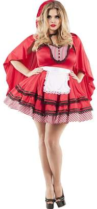 Party King Women's Red Hooded Babe Plus Size Costume Black 2X-Large