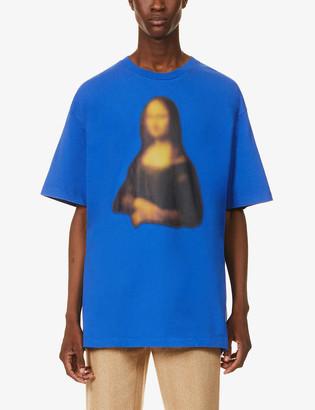 Off-White Blurred Monalisa cotton-jersey T-shirt