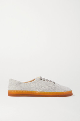 Gabriela Hearst Marcello Cashmere Sneakers - Light gray