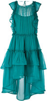 Alberta Ferretti ruffled layered sheer dress - women - Silk - 42