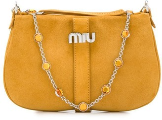 Miu Miu embellished chain shoulder bag
