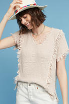 Velvet by Graham & Spencer Fringed & Textured Pullover