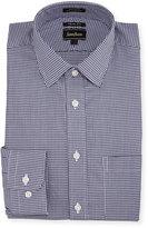 Neiman Marcus Trim-Fit Regular-Finish Square Dress Shirt, Blue