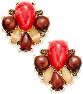 Kate Spade Gold-Tone Stone Cluster Stud Earrings