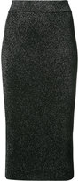 Cushnie et Ochs metallic fitted midi skirt - women - Polyester/Rayon - L
