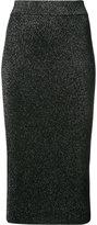 Cushnie et Ochs metallic fitted midi skirt - women - Rayon/Polyester - M