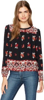 Ella Moss Women's Vintage Floral Long Sleeve Top