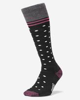 Eddie Bauer Men's Point6® Patterned Ski Socks - Medium