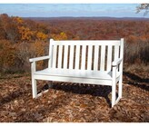 """Polywoodâ® Traditional Plastic Garden Bench POLYWOODA Size: 35"""" H x 47.5"""" W x 24.25"""" D, Color: White"""