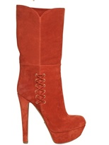Sergio Rossi 150mm Suede Laced Boots
