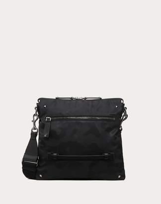Valentino Garavani Uomo Nylon Camouflage Noir Crossbody Bag Man Black OneSize