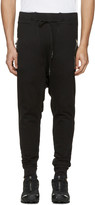 11 By Boris Bidjan Saberi Black Drawstring Lounge Pants