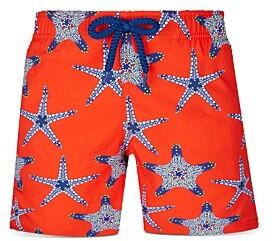 Vilebrequin Boys' Jirise Starfish Print Swim Trunks - Little Kid, Big Kid