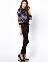 Cheap Monday Tight Black Satin Jeans