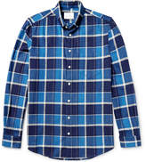 Steven Alan Masters Button-Down Collar Checked Brushed-Cotton Shirt