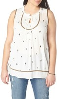 Evans Plus Size Women's Embroidered Top