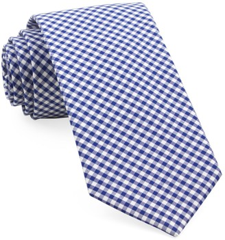 Tie Bar Petite Gingham Royal Blue Tie