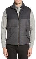 Luciano Barbera Men's Wool Blend Tech Vest