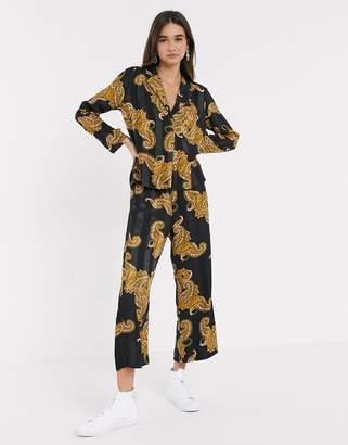 InWear Keelia paisley print rever collar shirt two-piece