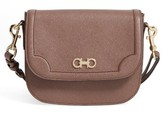 Salvatore Ferragamo Greta Leather Crossbody Bag - Black