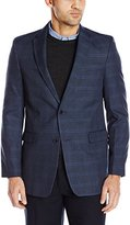Tommy Hilfiger Men's Blue Plaid Windowpane Sport Coat