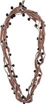 Ann Demeulemeester velvet beaded necklace