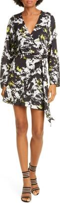 Alice + Olivia Ophelia Asymmetrical Drape Dress