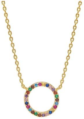 Estella Bartlett Multi CZ Circle Necklace