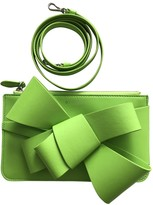 DELPOZO Green Leather Clutch bags