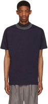 Kolor Navy Contrast Neck T-Shirt