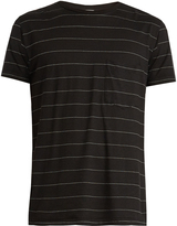 Saint Laurent Pinstriped cotton T-shirt