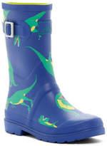 Joules Dino Print Welly Waterproof Rain Boot (Toddler, Little Kid, & Big Kid)