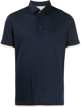Brunello Cucinelli Contrast Trim Jersey Polo Shirt