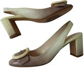 Prada Ecru Patent leather Ballet flats