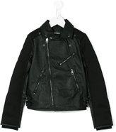 Diesel biker jacket - kids - Polyester/Polyurethane/Spandex/Elastane/Viscose - 6 yrs