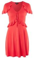 Topshop Tie Front Tea Dress