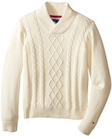 Tommy Hilfiger Sam Shawl Cable Sweater (Toddler/Little Kids)