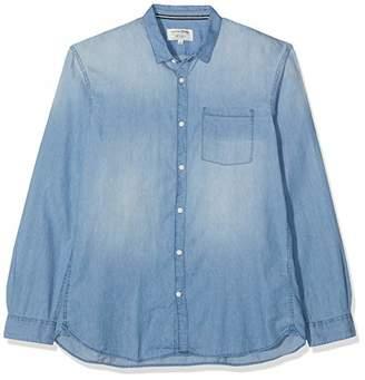Tom Tailor Men's Denim Freizeit Hemd mit Langarm Casual Shirt, Stone Blue 10141
