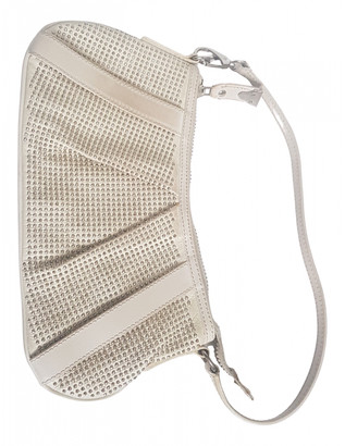 Burberry White Leather Clutch bags